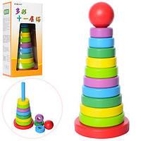 Деревянная игрушка пирамидка MD 1021