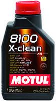 Автомобильное масло для двигателя Motul 8100 x-clean 5w40 (1l) 854111