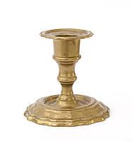 Старый коллекционный бронзовый подсвечник, бронза, литье, Германия, фото 1