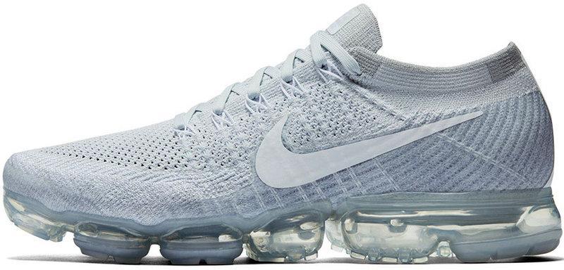 Мужские кроссовки Nike Air Vapormax Flyknit Pure Platinum/White/Wolf Grey, Найк Аир Вапор Макс