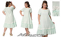 Летнее платье Лен (размеры 50-56)