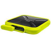 SSD внешний жесткий диск 256Gb A-Data SD700, Black/Yellow, USB 3.1, TLC 3D NAND, 430 / 440 MB/s, прорезиненный, IP68 (ASD700-256GU3-CYL)