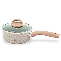 Мраморный сотейник Marble saucepan, сотейник с крышкой 18 см