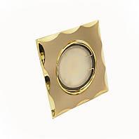 Светильник врезной, поворотный 50W HDL16154R титан-золото, Delux