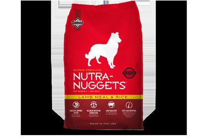 Nutra Nuggets (Нутра Наггетс) Lamb & Rice корм для взрослых собак, с ягнёнком, 15 кг