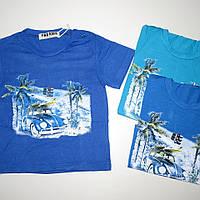 Детская летняя футболка для мальчика на 1 , 2 ,  3 ,  4 ,  5 лет