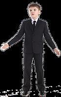 Пиджак для мальчика Лицей 116-170 см карат черный