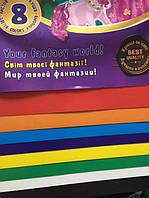 Набор цветного картона А4 8 л. Мультяшки, 7581