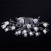 Галогенная люстра с диодной подсветкой (лампочки в комплекте)  P5-Y0563/16 CH/LOW