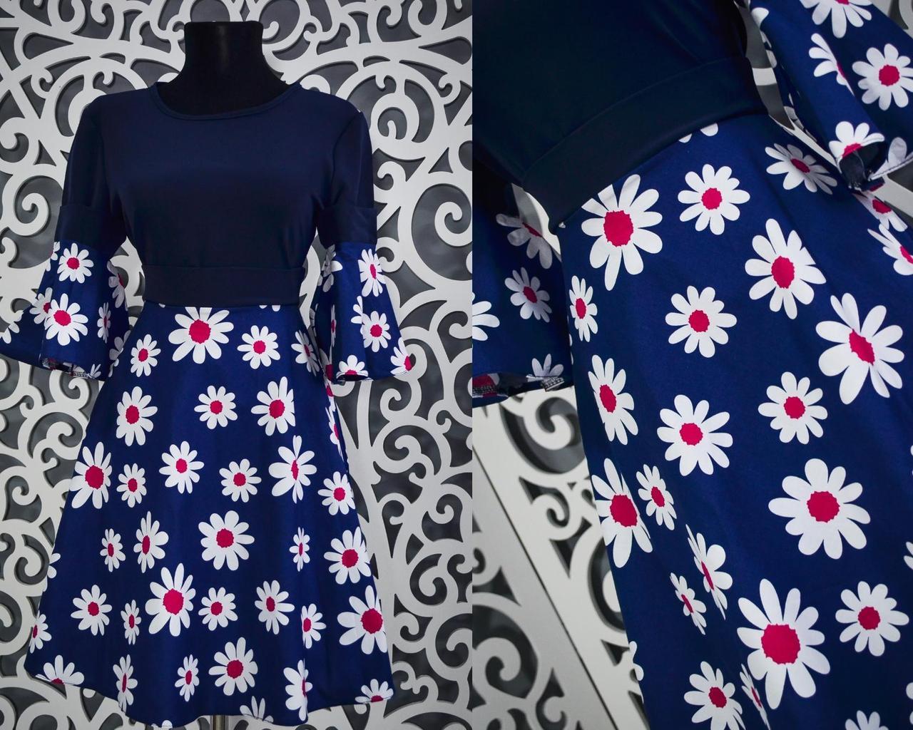 Женское платье с ромашкой 42 размер норма