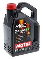 Motul 8100 X-CLEAN FE 5W-30 - синтетическое моторное масло - 4 л.