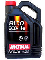Motul 8100 ECO-LITE 5W-30 - синтетическое моторное масло - 4 л.