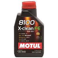 Motul 8100 X-CLEAN FE 5W-30 - синтетическое моторное масло - 1 л.