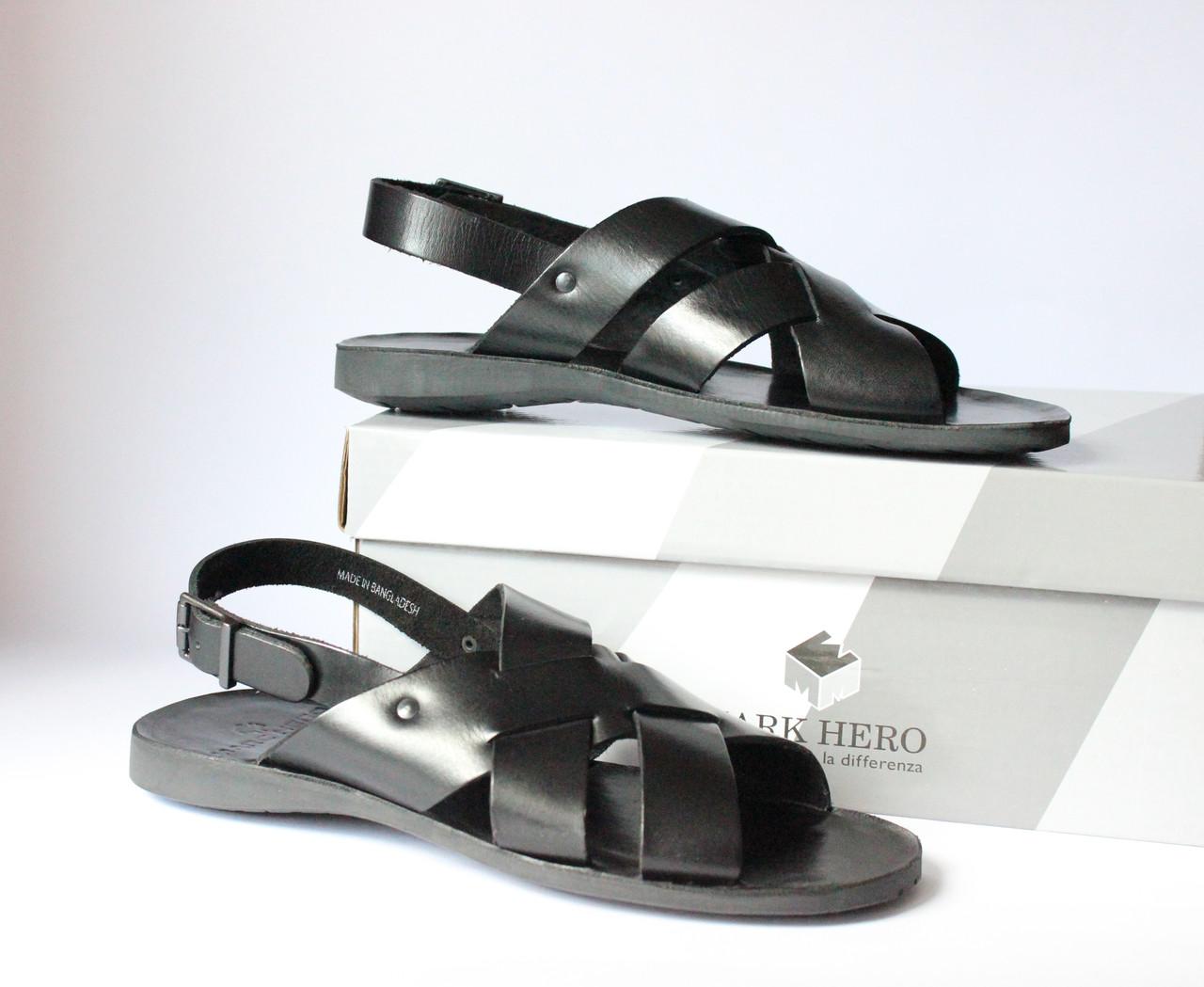 Шикарные кожаные сандалии-босоножки Mark Hero, Италия-Оригинал