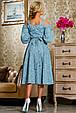 Красивое летнее молодежное платье 2265 голубой, фото 3