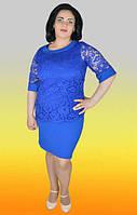 Нарядное женское платье большого размера