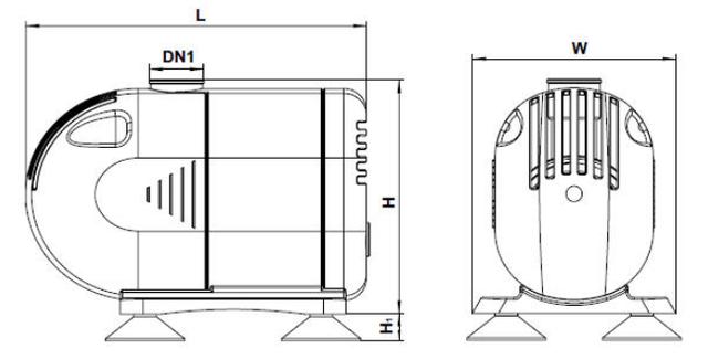 Бытовой насос для фонтана Aquatica 772116 габаритные размеры_2