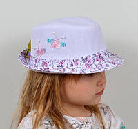 Белая шляпа на девочку