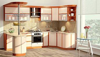 """Кухня КХ - 68 3м * 1.7м / по елементно / Кухня серии """"Софт"""" по элементно"""