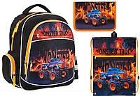 """Комплект школьный. Рюкзак """"Monster Truck"""" K17-510S, Пенал и Сумка, ТМ  KITE"""