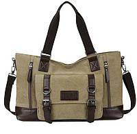 Дорожно-спортивная тканевая сумка. Цвет хаки