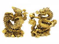 Дракон и Феникс каменная крошка (дракон 12,5х12х7 см,феникс 12х10,5х7 см) ( 29469)