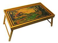 Столик для завтрака в постель бамбук (54х23х33 см) ( 27935)
