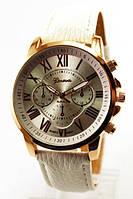 Часы женские Geneva (белые циферблат и ремешок)
