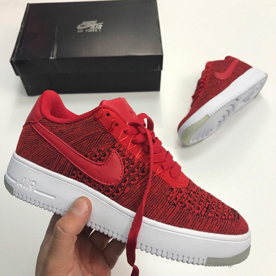 "0e26765b Кроссовки в стиле Nike Air Force 1 Ultra Flyknit Low ""University Red""  женские"