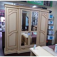 Спальня Роксолана ЮрВит (комплект) шкаф 4 двери