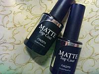 Матовый закрепитель топ гель-лака 12 мл Naomi/ Gel MATTE Top coat Naomi