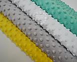 Набор отрезов плюша минки: жёлтый, светло-серый, белый, тёмно-мятный (33*40), фото 2
