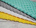 Набор отрезов плюша минки: жёлтый, светло-серый, белый, тёмно-мятный (33*40), фото 3