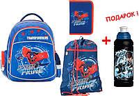 """Комплект. Рюкзак школьный Transformers TF17-510S + пенал + сумка, ТМ """"Kite"""""""