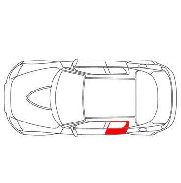 Направляющая каретка стеклоподъемника Audi A4 B6, B7 задняя левая дверь (Ауди А4 Б6, Б7), фото 2