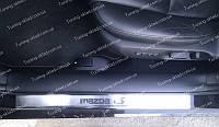 Накладки на пороги Mazda 6 FL (накладки порогов Мазда 6 2 рестайл)