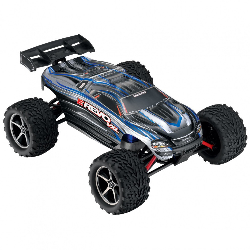 Автомобиль Traxxas E-Revo VXL Brushless Monster 1:16 RTR 71076-3 Silver