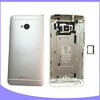 Задняя крышка HTC 801e One M7/801n. серебристая