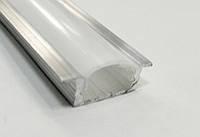 Алюминиевый профиль для светодиодных лент CП30 врезной матовый