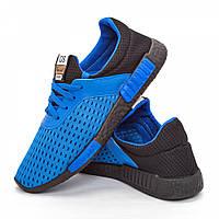 Мужские кроссовки голубые (Код: DRM-304)