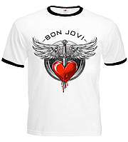 Футболка-рингер Bon Jovi