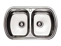 """Мойка кухонная """"CATANIA"""", 800*490 двойная декор (с сифоном)"""