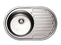 """Мойка кухонная """"GENOVA"""", 770*500 левая декор (с сифоном)"""