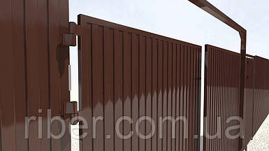 Профнастил ПС 8 - 0,40мм 1200х1500, RAL 8017 (шоколадно-коричневый)