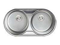 """Мойка кухонная """"SANREMO"""", 840*440 двойная декор (с сифоном)"""