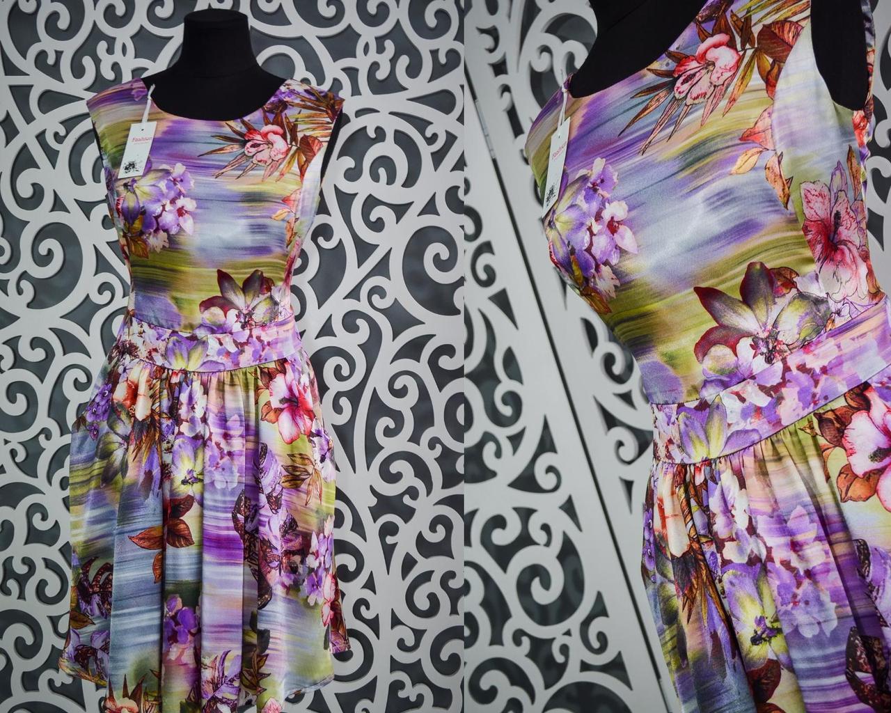 """Женское платье из """"Атласного шелка"""" 40, 42, 44, 46 размеры норма"""