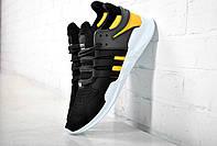 Кроссовки Adidas EQT equipment черные с желтым
