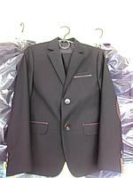 """Пиджак школьный """" Челси """"для мальчика 116-158 карат черный"""