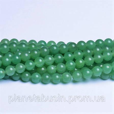 8 мм Зелёный Авантюрин, CN206, Натуральный камень, Форма: Шар, Отверстие: 1мм, кол-во: 47-48 шт/нить, фото 2