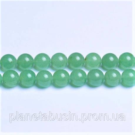 6 мм Зелёный Авантюрин, Натуральный камень, На нитях, бусины 6 мм, Шар, количество: 60-62 шт/нить, фото 2